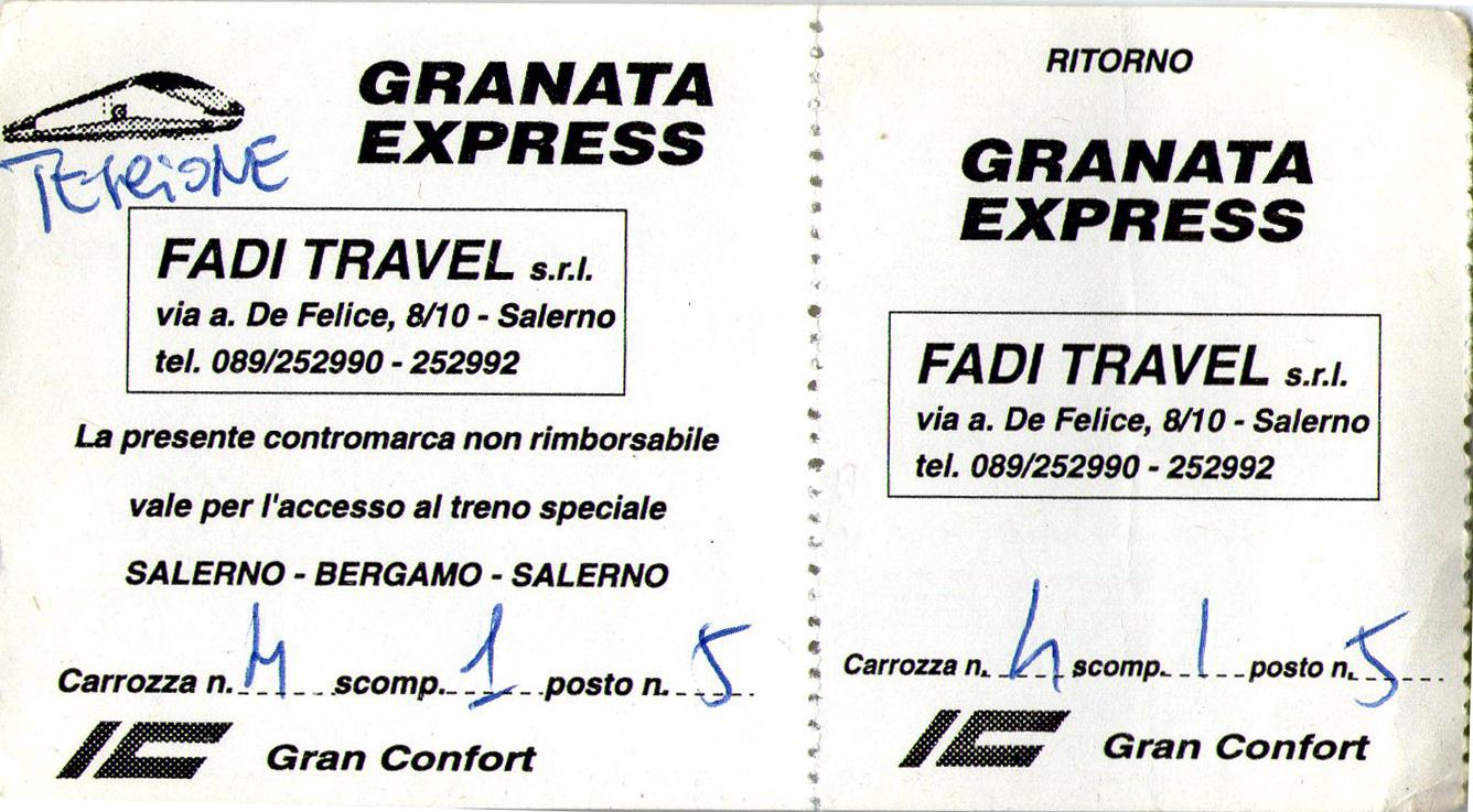 Biglietto treno speciale