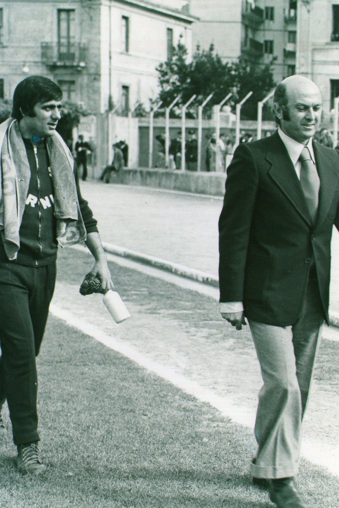 Franco Viviani con il massaggiatore Bruno Carmando