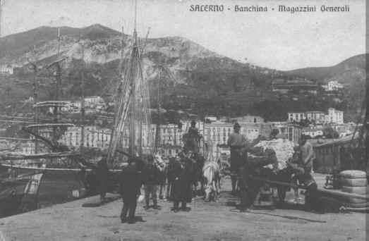 Il porto  Banchina  Magazzini Generali 1914