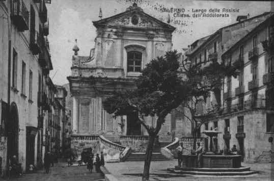 Largo delle Assisie  Chiesa Addolorata 1925