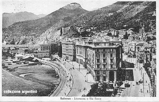Litoranea e via Roma 1940