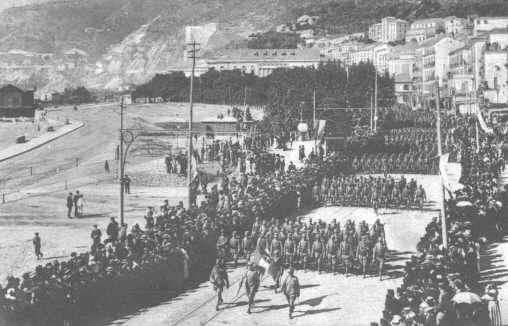 63° Fanteria partenza per Tripoli 11 ottobre 1911