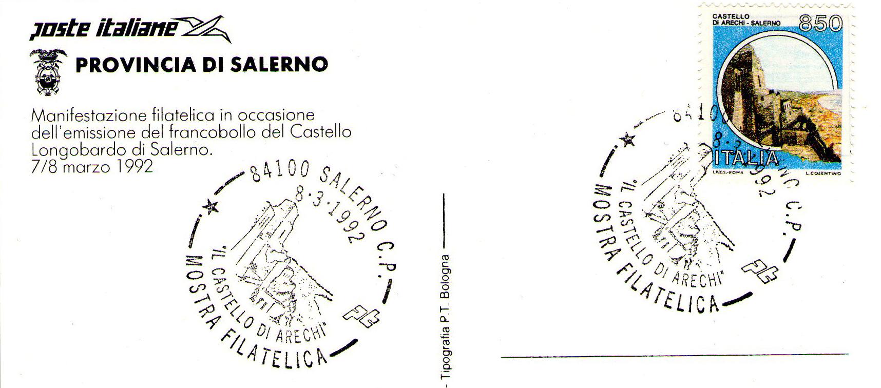 Francobollo Castello Arechi