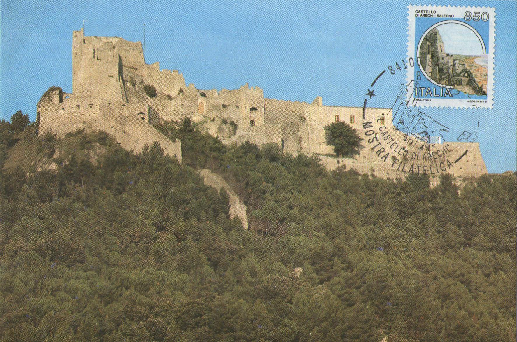 Francobollo e cartolina Castello Arechi