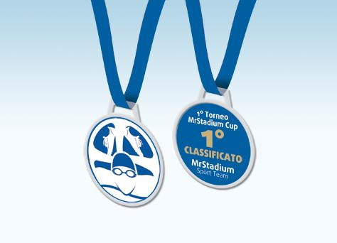 Medaglia triathlon linea