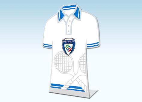 Targa sagomata monofacciale tennis