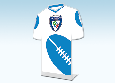 Targa sagomata monofacciale rugby