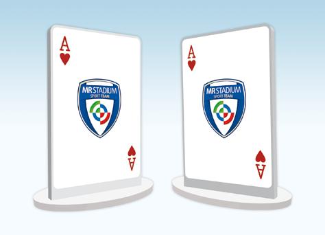 Targa sagomata bifacciale poker