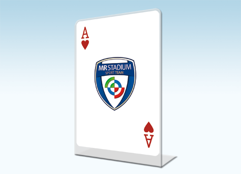 Targa sagomata monofacciale poker